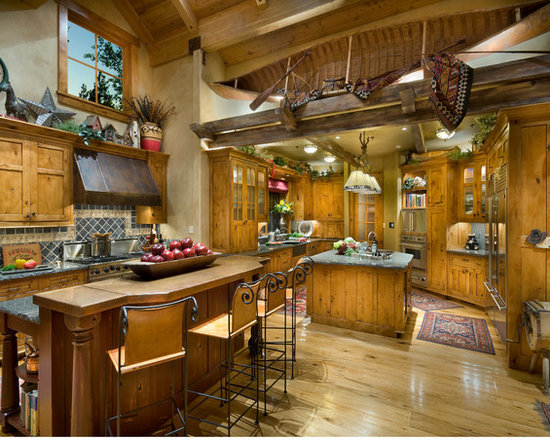 Southwestern Viking Range Home Design Photos Decor Ideas
