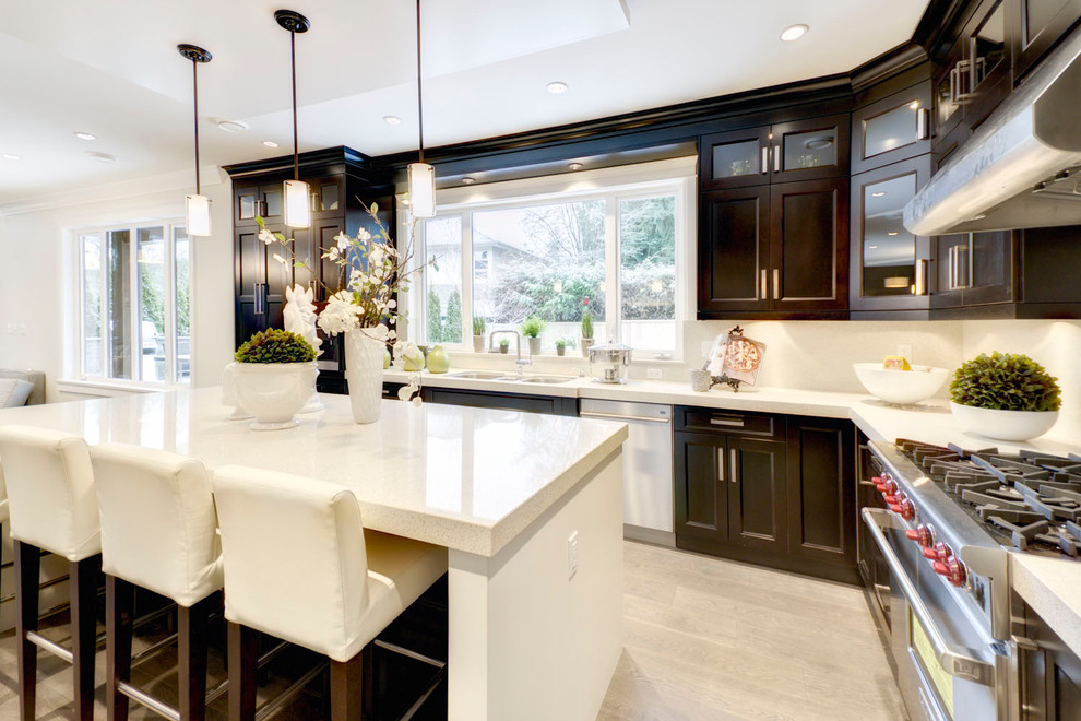 North Vancouver New Home - Contemporary - Kitchen ...
