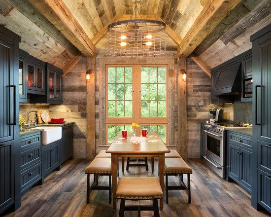 Rustic Black Kitchen Cabinet Home Design Photos Decor Ideas