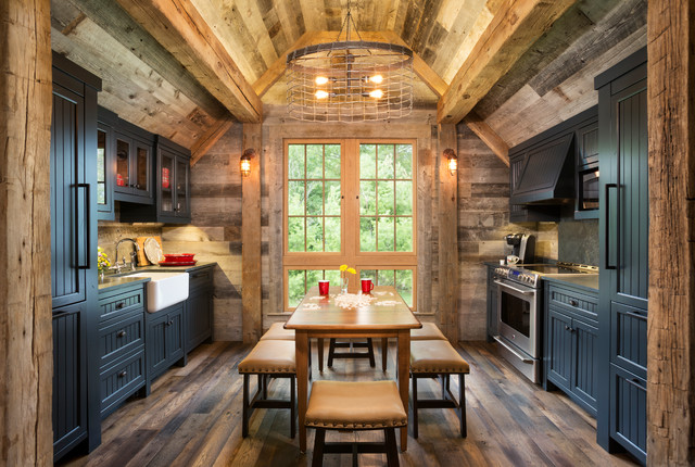 Northern Wisconsin Bunk House Rustic Kitchen