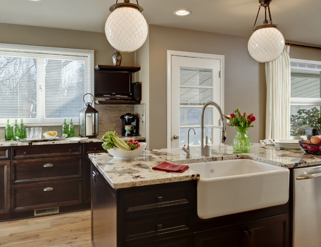 Contemporary Kitchen Remodeling   Inspiration For A Contemporary Kitchen  Remodel In Detroit With A Farmhouse Sink