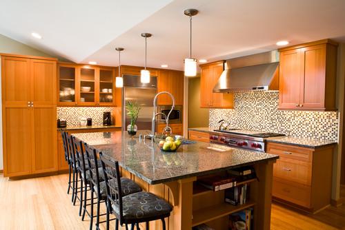 Brown Eyes Granite Kitchen Countertops Design Ideas