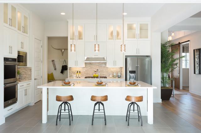 Northwoods Kitchen White Cabinets