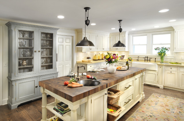 Not your aunt's country kitchen traditional-kitchen