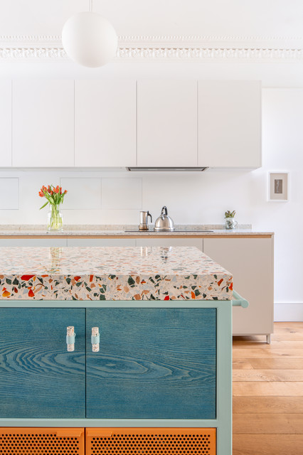 Nougat Inspired Terrazzo Kitchen Contemporary Kitchen