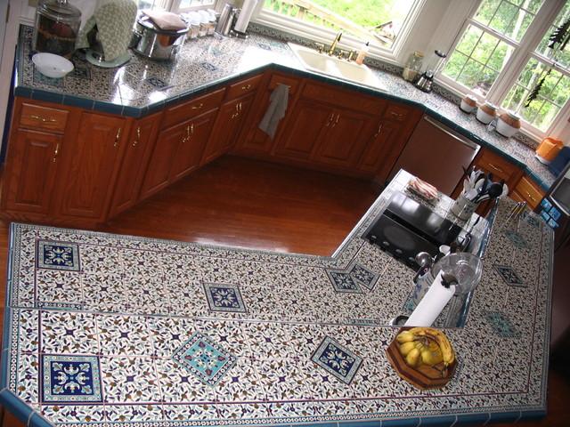 Nutter Kitchen Tile Countertop Mediterranean Kitchen Other