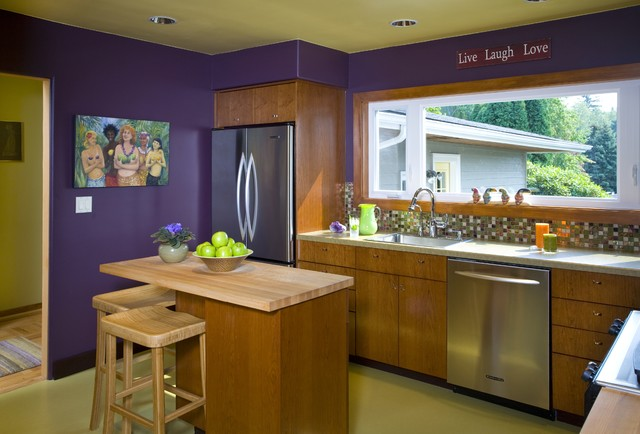 NW Green Inspired Kitchen contemporary-kitchen