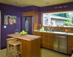 NW Green Inspired Kitchen contemporary kitchen
