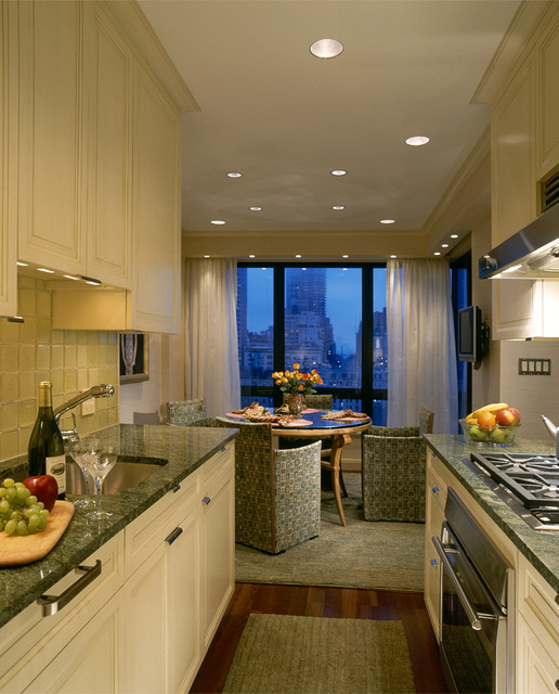NYC Apartment Glazed Kitchen Transitional Kitchen New York By Culin