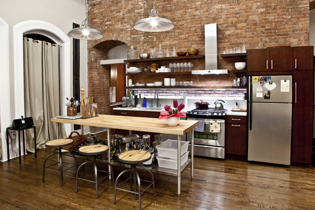 Nyc loft contemporary kitchen new york by design42 for Nyc apartment kitchen ideas