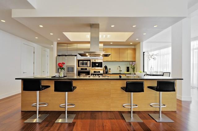 Nyc penthouse loft contemporary kitchen new york for New york loft kitchen design