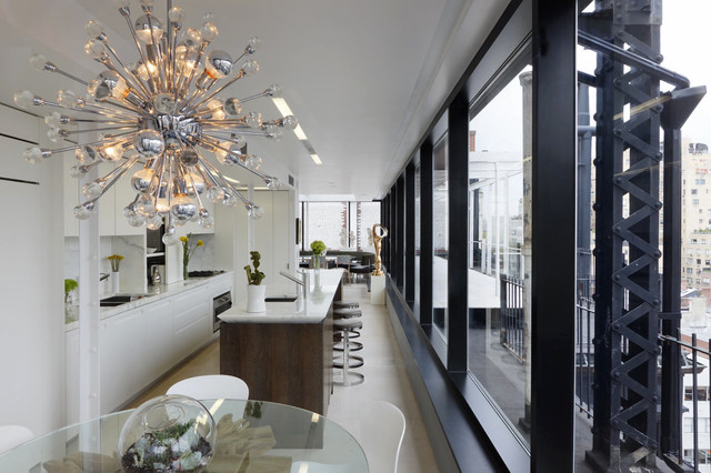 NYC Rooftop Penthouse. industrial-kitchen