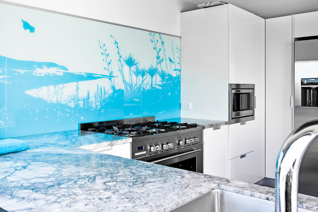 NZ Flax Bar And Kitchen Splashback Contemporary Auckland By Lucy G Creative