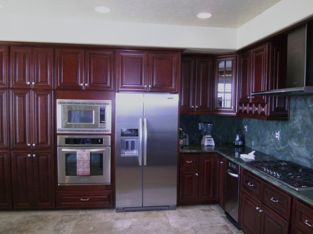 O'Neil Cabinets Cherry traditional-kitchen