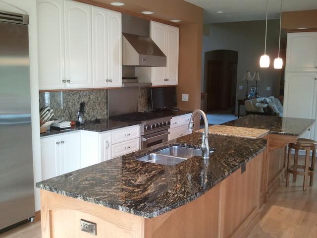 """Oak and Granite Island"" Kitchen Remodel traditional-kitchen"
