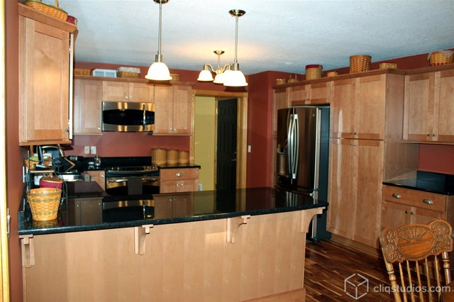 Oak Kitchen Cabinets - Contemporary - Kitchen - Minneapolis - by CliqStudios Cabinets