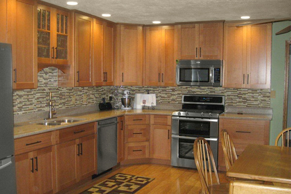 oak kitchen cabinets dayton door style cliqstudios contemporary kitchen