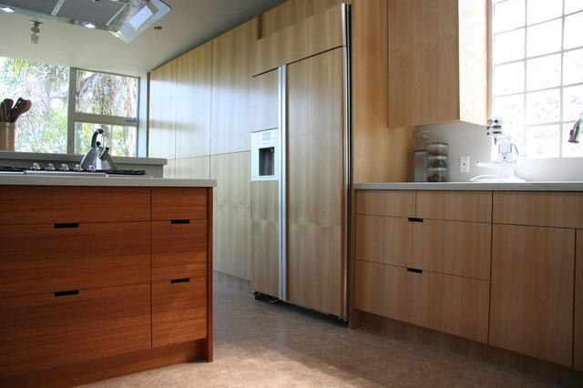 Oak Mahogany Ikea Kitchen Contemporary Kitchen Los Angeles By Semihandmade