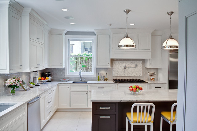 Oak Park Kitchen & Powder Room - Traditional - Kitchen ...