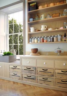 Oak Scullery Farmhouse Kitchen London By Artichoke