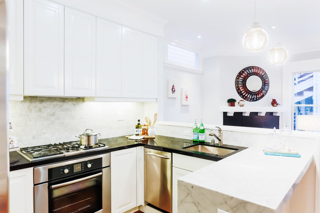 Oak St. Home Staging contemporary-kitchen