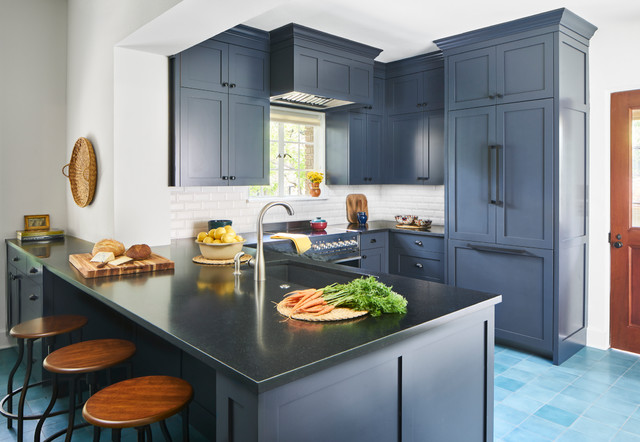 Look Beautiful In A Dark Blue Kitchen