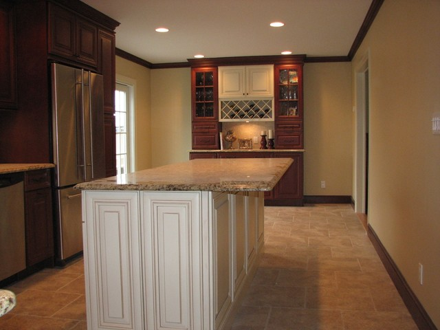 Oakdale Kitchen With Wine Rack Transitional Kitchen Other Metro By Roma Marble And