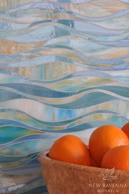 Oasis Jewel Glass Mosaic contemporary-kitchen