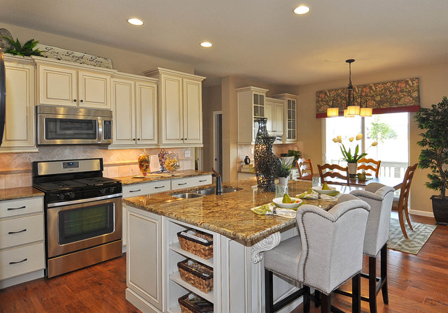 House Kitchen Model Of Observatory Village Washington Model Home Traditional