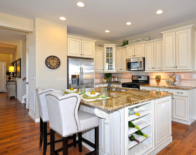 Observatory village washington model home traditional for Kitchen cabinets 77573