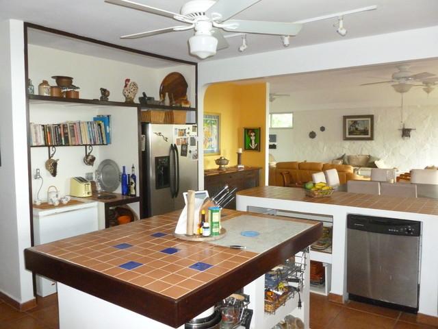 Ocean view retreat in Majagual, Panama tropical-kitchen