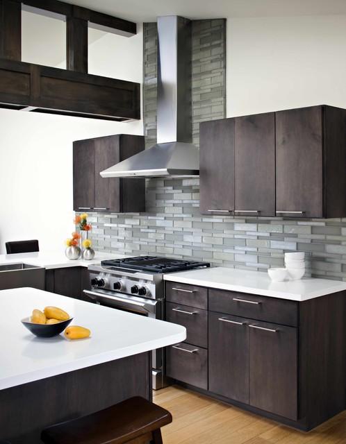 Modern Kitchen Elevation oceanside glasstile elevations platinum - contemporary - kitchen