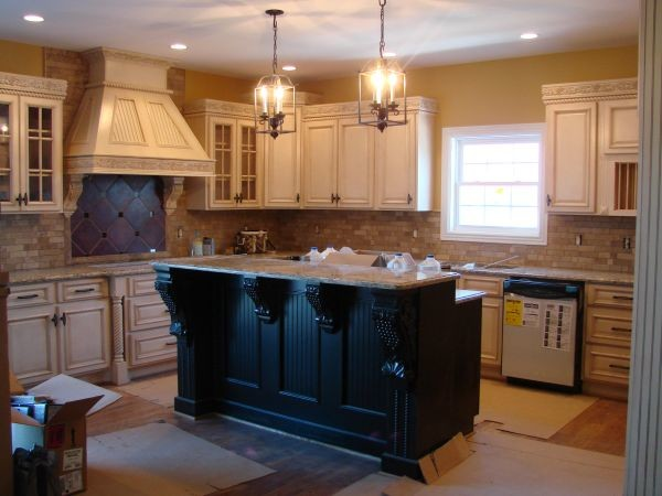 Off White Antique White Raised Panel Traditional Kitchen Houston By Premium Cabinets