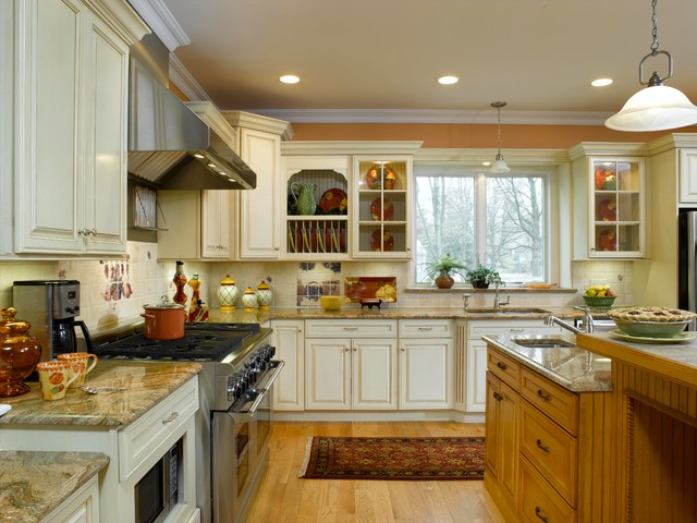 Off white kitchen cabinets with contrasting island Kitchen cabinets 75 off
