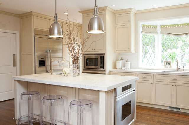 Off-white Kitchen - Transitional - Kitchen - San Francisco - by ...
