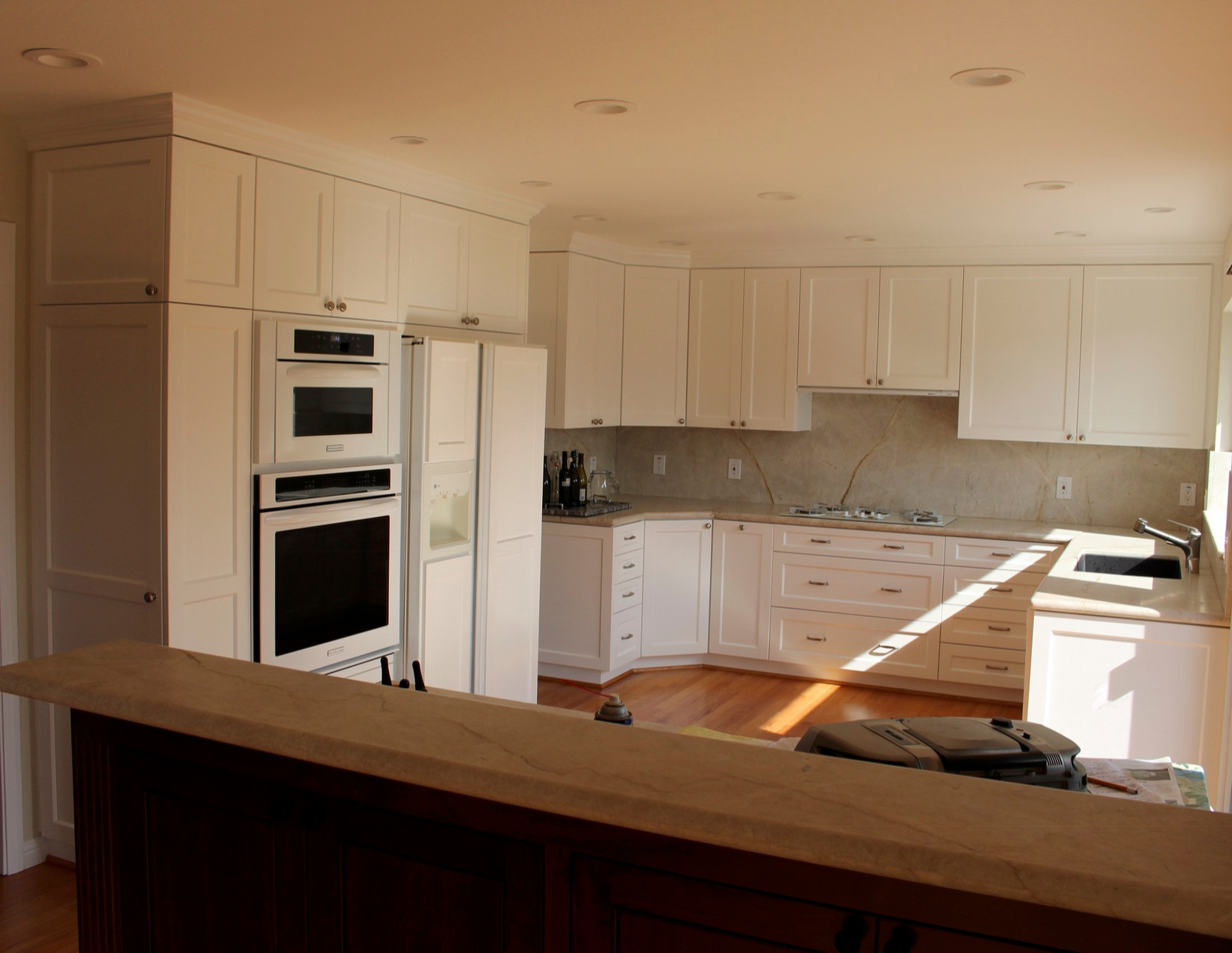 Off White Kitchen with Shaker Style Door