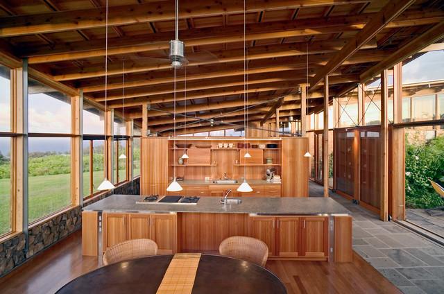 Ohana house at niulii contemporary kitchen hawaii for Jim cutler architect