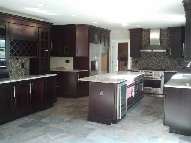... , NJ : Project with World Class Kitchen and Bath traditional-kitchen