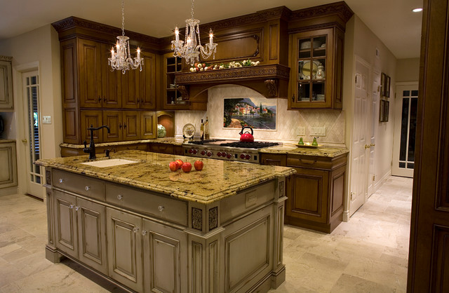 Old english tudor kitchen remodel and room addition for Tudor kitchen design