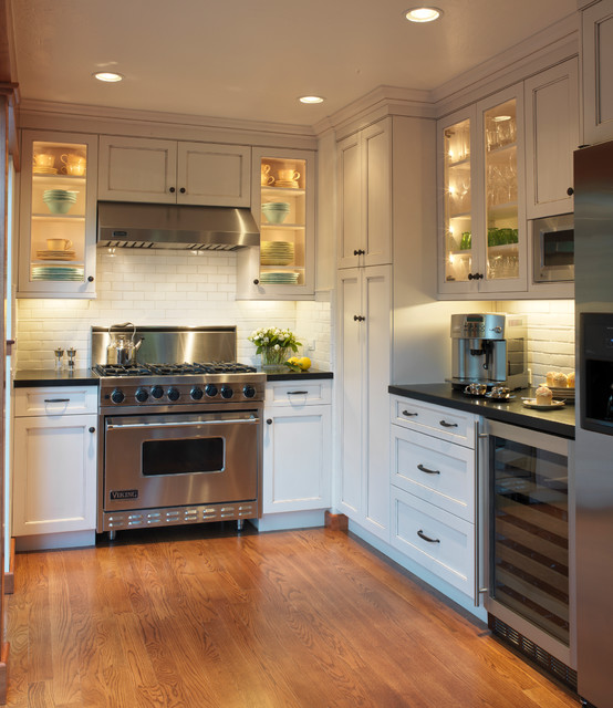 Old mill park traditional kitchen san francisco by for Kitchen cabinets houzz