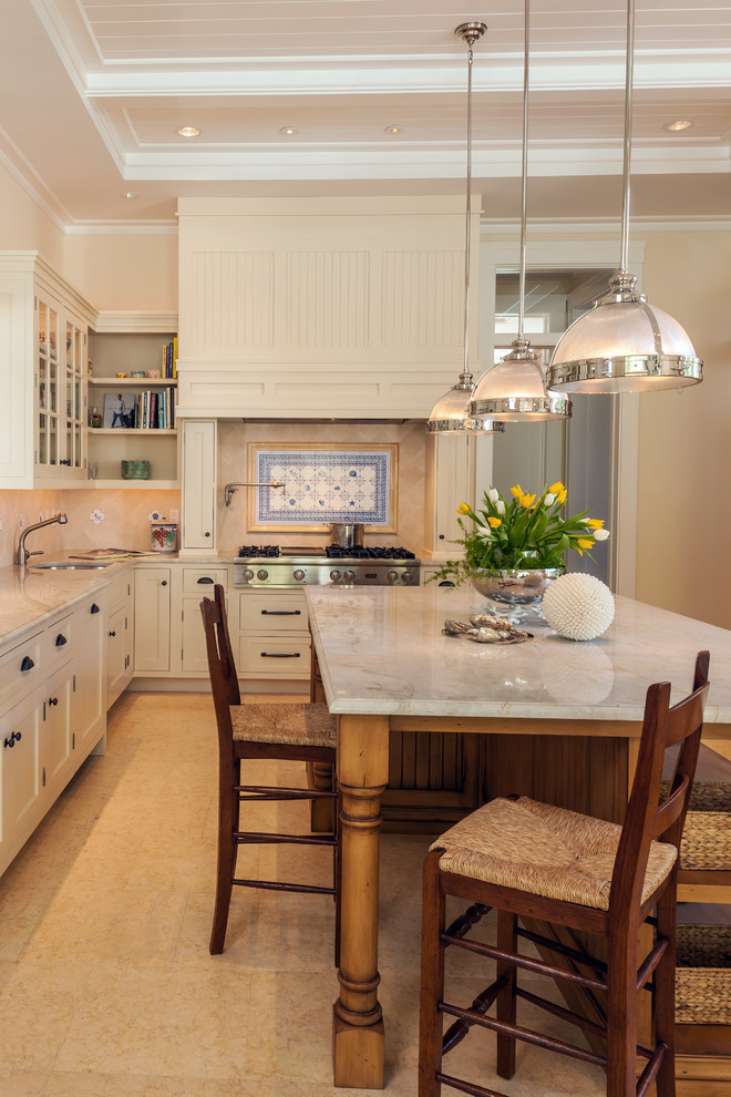 Old Naples, Private Residence - Traditional - Kitchen ...