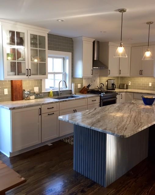 Old Rhode Island Home New Kitchen - Transitional - Kitchen ...