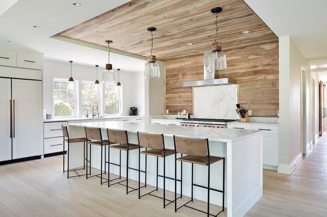 inspiration for a farmhouse kitchen remodel in boston - Modern Farmhouse Kitchen