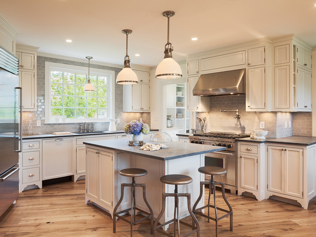 Old westmoor farm rd traditional kitchen other metro for Cottage kitchen lighting ideas
