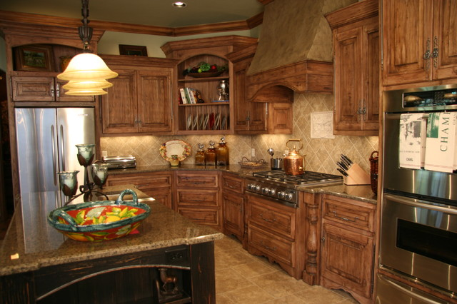 old world style kitchen cabinets world charm traditional kitchen oklahoma city 24020