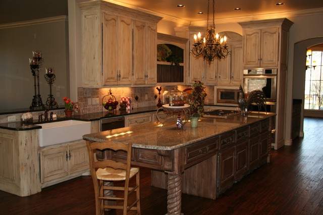 Interior Kitchen Cabinets Oklahoma City old world charm rustic kitchen oklahoma city by monticello kitchen