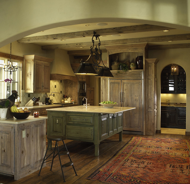 traditional-kitchen Houzz Fireplaces