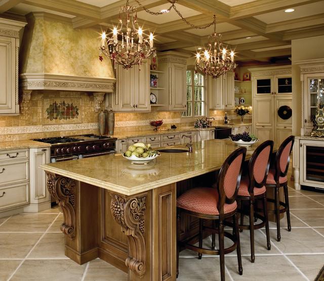 Mediterranean Kitchen Cabinets: Old World Custom Kitchen