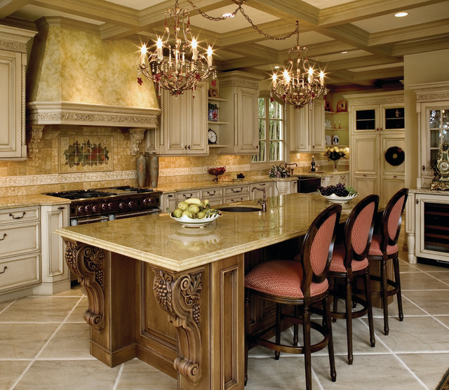 Mediterranean Style Kitchens: Old World Custom Kitchen