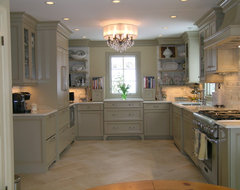 Old world elegance meets todays todays contemporary space requirements traditional kitchen